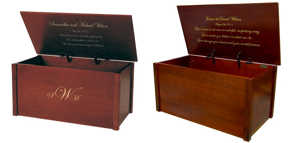 Monogrammed Wedding Chests: Timeless Wedding Gift Ideas
